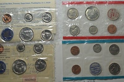 1965 P+D&1969 P+D US Mint Set With 40% Silver Kennedy Half Dollars - SEE PICS!!