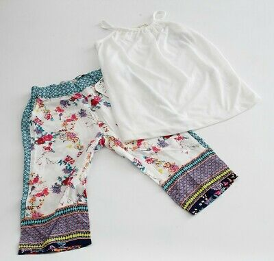 Zara Girls pack 1x Floral trousers + tops blouse white Size 3-4 years RRP 26,90€