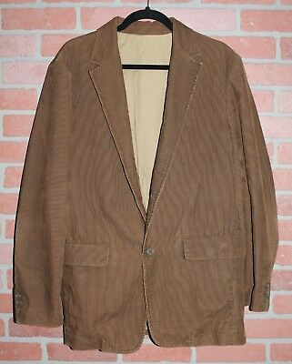 J.Crew Brown Corduroy 2 Button Blazer Jacket Mens Size Medium