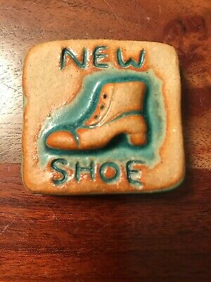 Kramp Tile Pottery Art New Shoe Arts and Crafts Mission Style Boot