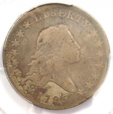 1795 Flowing Hair Bust Half Dollar 50C - Certified PCGS VG Details - Rare Coin!