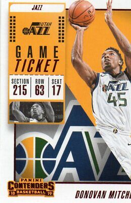 2018-19 Panini Contenders Game Ticket Red #39 Donovan Mitchell