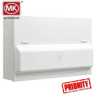 MK Honeywell K7666smet 16-Way MK Sentry  Metal Consumer Unit c/w 10 MCBs