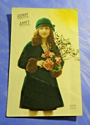 Bonne Annee (Happy New Year) Early 1900's Vintage Old Postcard PC5345