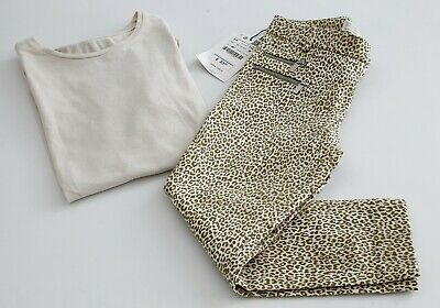 Zara Girls pack trousers leopard print + T-shirt Size 5-6 year 116 cm RRP 28,90€