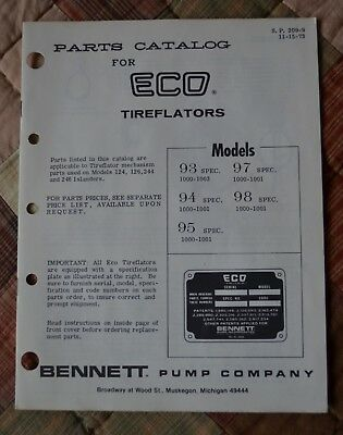 ECO Tireflator 1973 Parts Catalog copy -  gas station tire air tower meter pump