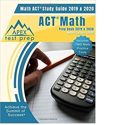 ACT Math Prep Book 2019 & 2020 by APEX Test Prep (Paperback, March 8, 2019)