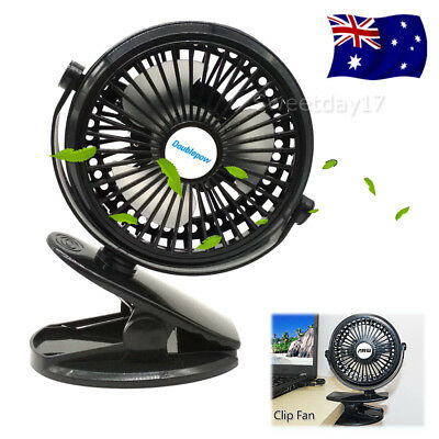 NEW Clip Mini Fan USB Cooling Strong Airflow Desk Table Notebook Laptop Office