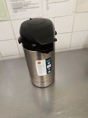 Stainless Steel 3 Litre Air Pot Pump Action Vacuum Tea Coffee Hot Water