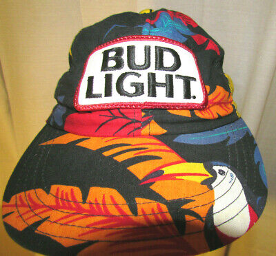 46aa41bbbc9 VTG 80s BUD Budweiser Hat Cap STRETCH Fit PARTY FESTIVAL BEER BREW BEACH  USA VGC