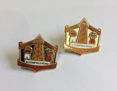 DONCASTER ROVERS Football Club FC Badge Supporters MATCH BADGES v BLACKPOOL Pin