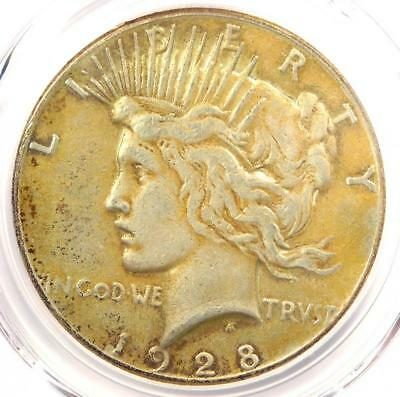 1928 Peace Silver Dollar $1 - PCGS VF Details - Rare 1928-P Key Date Coin!