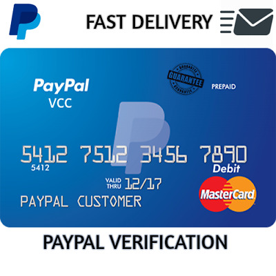 VCC For PayPal Verification Virtual Credit Card - All Countries Fast Delivery