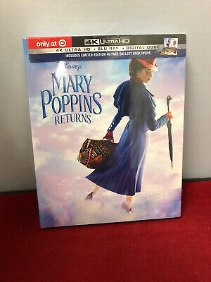 Disney Mary Poppins Returns(4K Ultra Hd+Blu-Ray+Digital)Target Exclusive