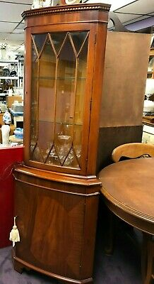 Vintage Reproduction Shaw of London Corner Cabinet