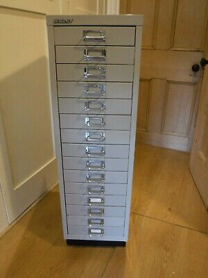 Bisley - 15 Drawer Filing Cabinet drawers retro industrial