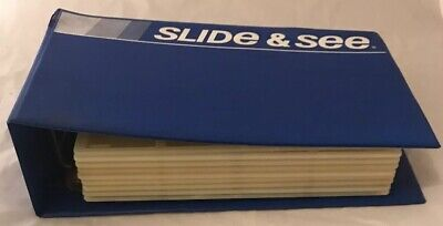 "Vintage ""Slide & See"" 35mm Photo Slide Storage Folder & Plastic Pages 108 Slides"