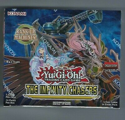 YuGiOh English The Infinity Chasers 1st Edition Booster Box Factory Sealed