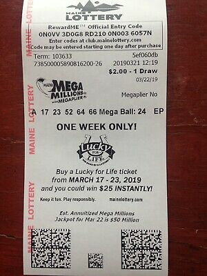 USA LOTTERY TICKET Mega Millions Jackpot Play Winner Lotto Tickets