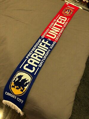Cardiff City Vs Manchester United Scarf