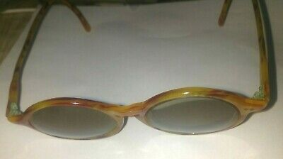 016f4e3f6fb64 VINTAGE TINTED AMBER Frame Eye Glasses with Case -  17.49