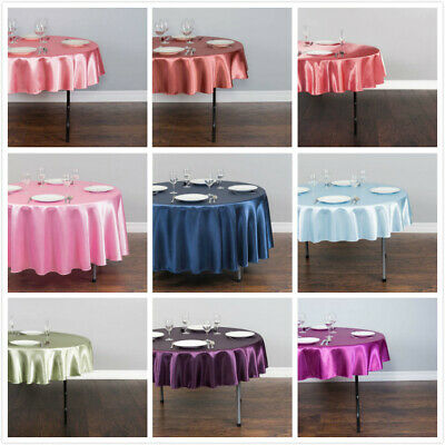LinenTablecloth 70 in. Satin Tablecloths, 33 Colors! for Event&Wedding