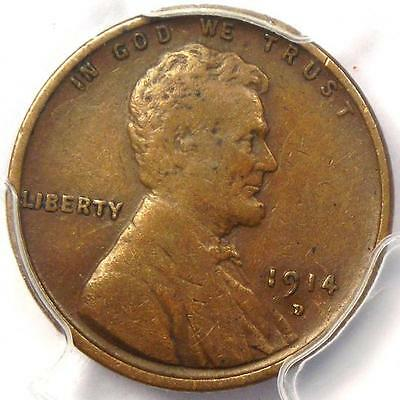 1914-D Lincoln Wheat Cent 1C - PCGS VF30 (Nice Very Fine) - Rare Key Date Penny