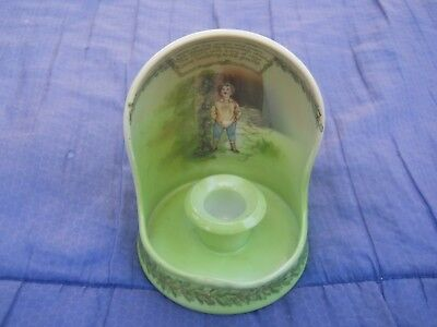 Royal Bayreuth Jack And The Beanstalk Candlestick Holder Blue Mark