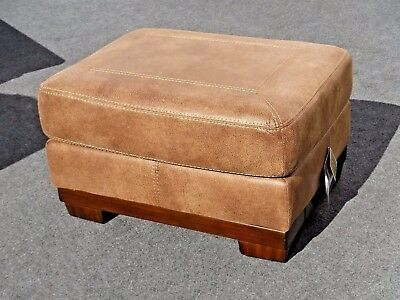 New Ashley Furniture Contemporary Brown Microfiber Ottoman