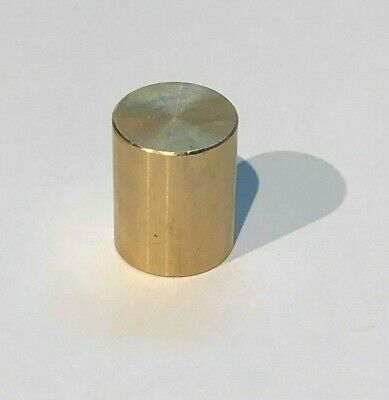 "NEW Unfinished Solid Brass Modern Deco Style Drum Finial 5/8""h tap 1/4-27"""