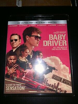 Baby Driver 4K Ultra HD + Blu-ray + Digital  [2017] Brand New Sealed