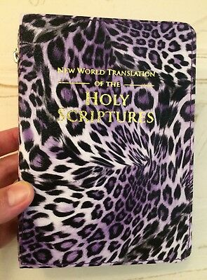 New World Translation Bible Cover, Purple Leopard, Jehovah's Witness