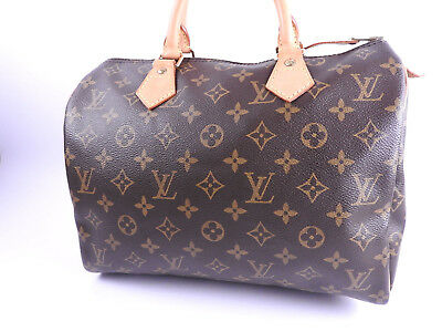 fb15fb284ebe Authentic LOUIS VUITTON Speedy 30 Monogram Boston Bag Hand Bag M41526 A-7942