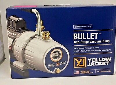 Yellow Jacket 93600 Bullet 7 CFM Two Stage Vacuum Pump, Free Shipping