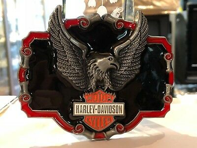 Belt Buckle Harley / Davidson Motor Cycles Red Eagle Legend / Aussie Stock !!