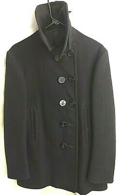 Navy 10 Button Wool Peacoat Naval Clothing Factory WWII