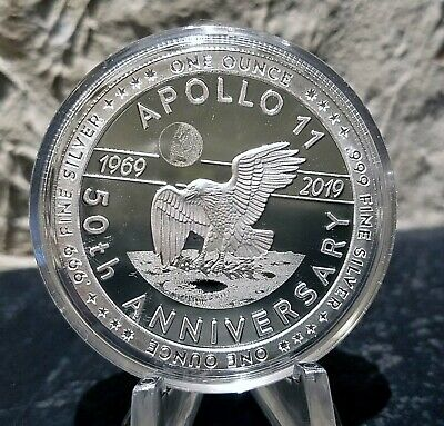 Apollo 11 Eagle Landing 1 oz Silver Proof Round - 2nd in Series(New)