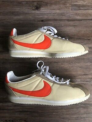brand new 53c3f af1fb NIKE CORTEZ MENS Shoes Khaki Orange White Tan Shoes Running Racer 11.5 Nylon
