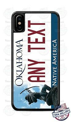 Customized OKLAHOMA License Plate Phone Case Cover Any Text for iPhone Samsung