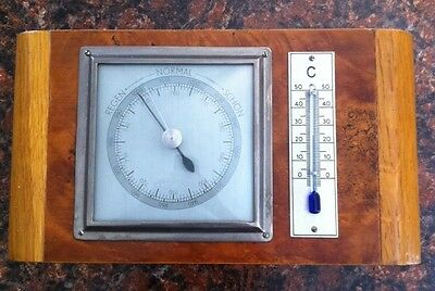 FORSTER ART DECO BAROMETER & THERMOMETER Made in Germany