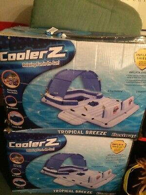 Bestway CoolerZ Tropical Breeze 6-Person Floating Island Inflatable Rafts NEW