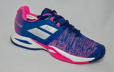 SALE Babolat Propulse Blast AC Women Tennis shoes Blue/Pink NIB ladies SALE!