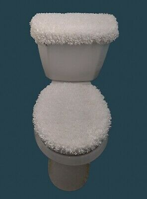Fine Super Soft Silky Furry Fleece 2Pc Toilet Seat And Tank Lid Forskolin Free Trial Chair Design Images Forskolin Free Trialorg