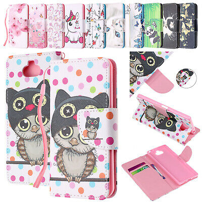 For Sony Xperia XA1 XA2 XA3 L1 Case Patterned Leather Magnetic Wallet Flip Cover