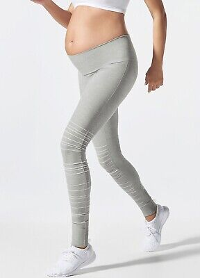 New - Blanqi - SportSupport Hipster Cuffed Maternity Legging in Dove Grey