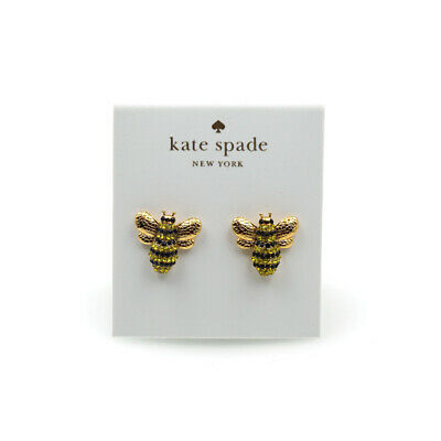 Kate Spade NY Picnic Perfect Crystal Pave Bee Stud Earrings
