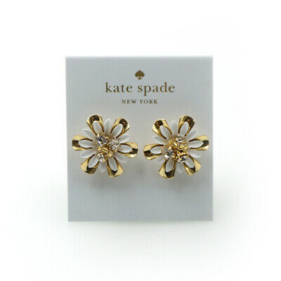 Kate Spade Vibrant Life White Multi Stud Earrings NEW with Dust bag
