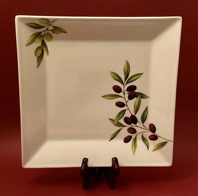 Brilliant Olives Square Plate / Serving Platter by The Cellar at Macy's