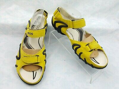 205eaa78e9b9 NWOB Ecco Yellow Leather 3-Strap Sports Sandals Women s Size EUR 42 US 11