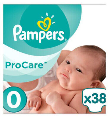 Pro-Care Essential Nappies - Size 0.  1.5kg-2.5kg. 38 Nappies.